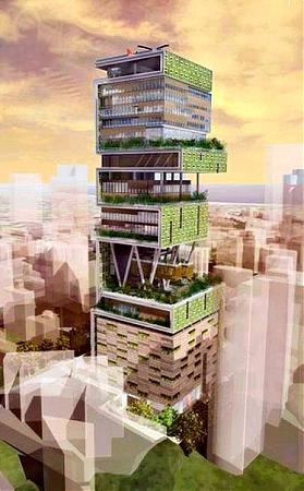 antilla, a maior casa do mundo está em mumbai (índia)