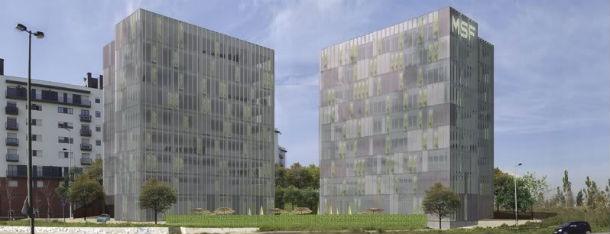 natura towers estão localizadas em telheiras, lisboa