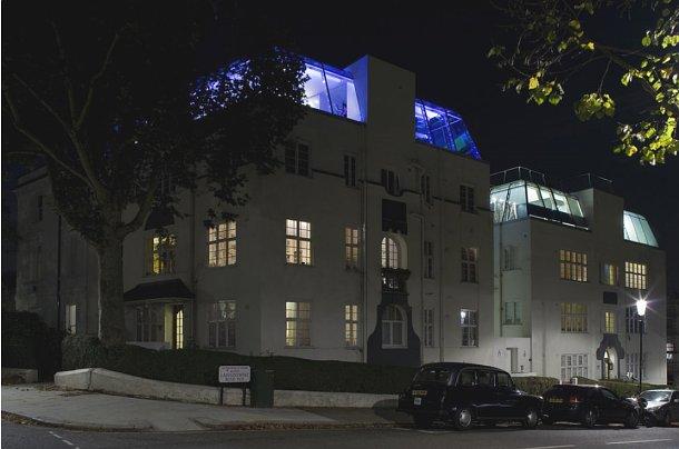 vista exterior da cobertura localizada no mítico bairro londrino de notting hill