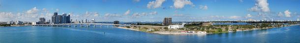 miami, na florida, é uma das cidades mais visitadas por turistas nos eua