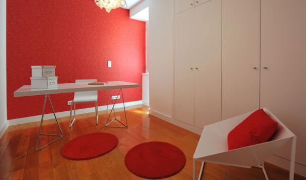 escritório de andar modelo, projecto da autoria de ed interiores