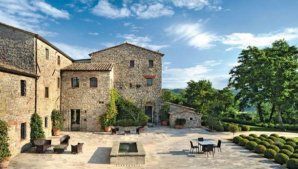 vista do exterior do hotel villa arrighi, na umbría