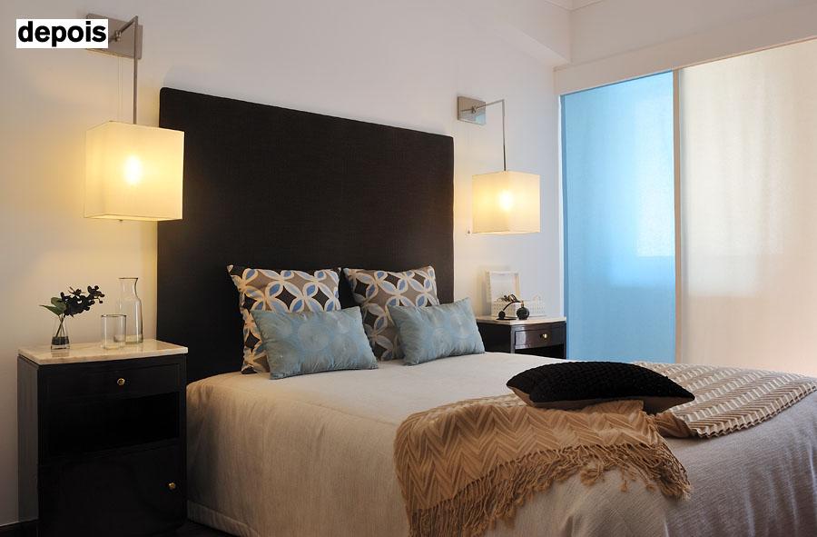 nos quartos, o objectivo foi conciliar a funcionalidade com o conforto em linhas modernas