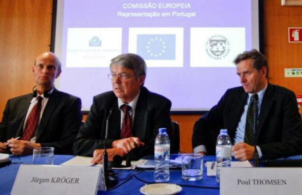 """elementos da """"troika"""" que estiveram em portugal a avaliar as contas públicas nacionais"""