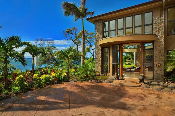 vista geral da mansão, que esta localizada na ilha de maui