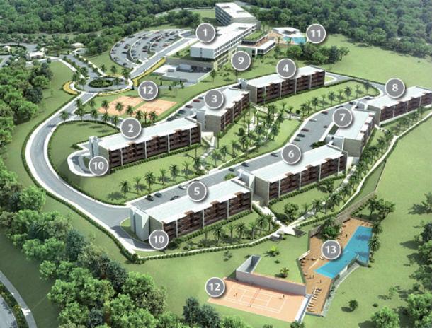 maquete do projecto do empreendimento vista do falcão residences, em portimão