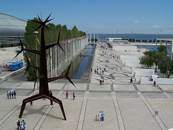 vista panorâmica do parque das nações, em lisboa