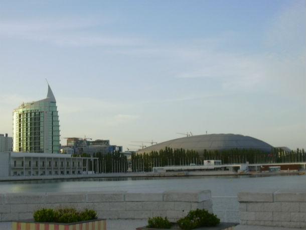 vista geral do parque das nações, em lisboa