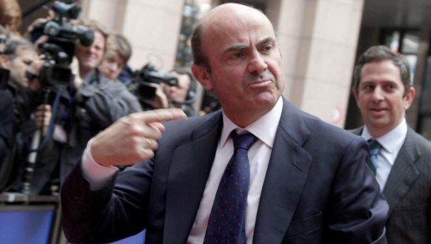 luis de guindos, ministro da economia de espanha