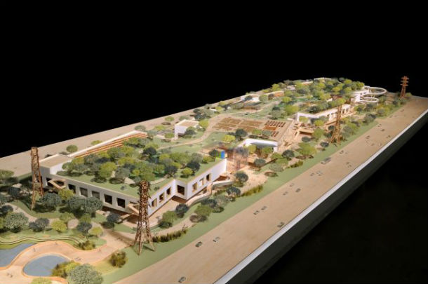 maquete do novo campus do facebook