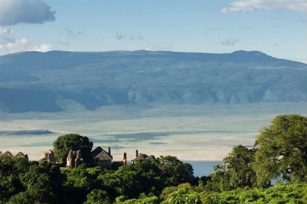 todos os quartos têm vista para a cratera do vulcão ngorongoro