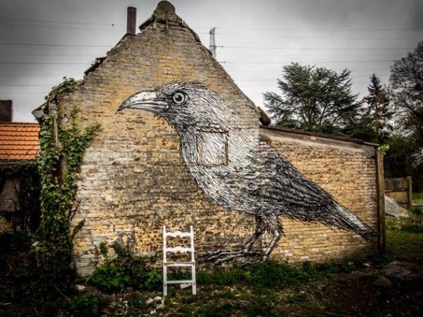 """Doel é, neste momento, o maior museu vivo de """"street art"""", uma espécie do Louvre do grafiti,"""