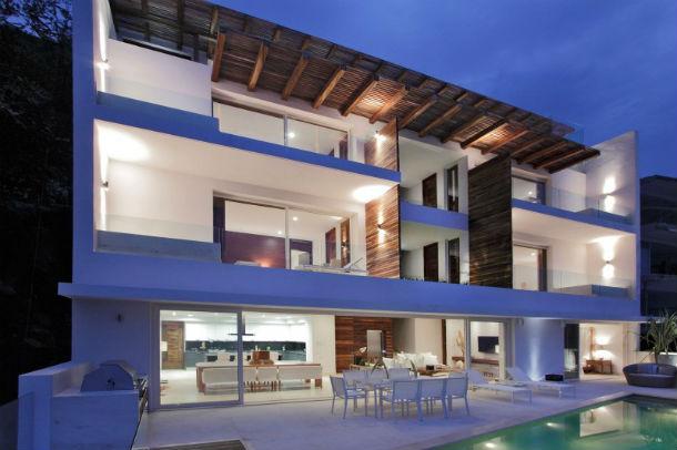 a casa está localizada em puerto vallarta, no estado de jalisco, e tem 860 m2
