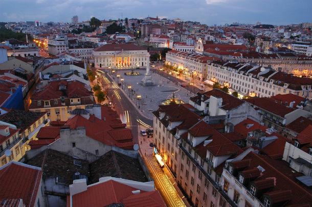 vista panorâmica do centro histórico de lisboa