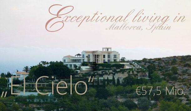a casa é conhecida como el cielo (o céu) e está localizada em alcudia, maiorca