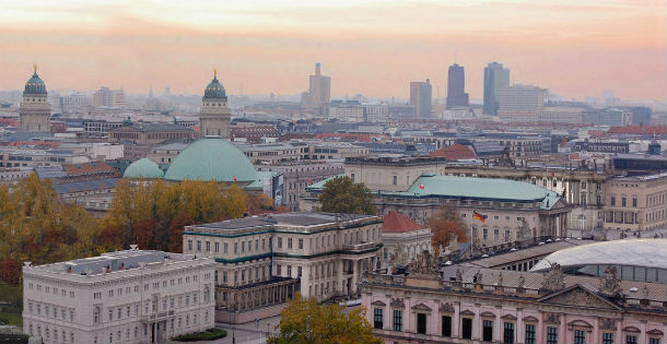 vista geral da cidade de berlim, capital alemã