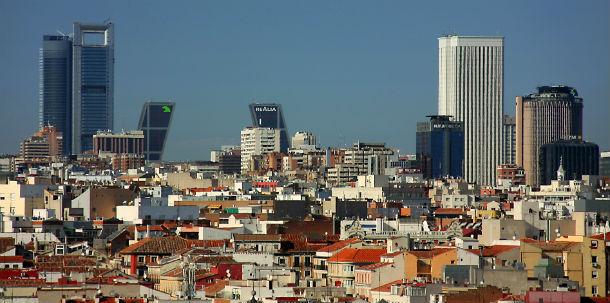 vista panorâmica de madrid, capital espanhola