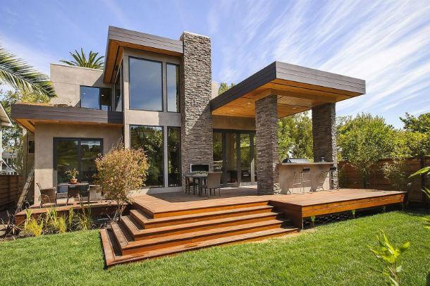 Casas de sonho mans o sofisticada com um toque r stico na for Casas modernas idealista