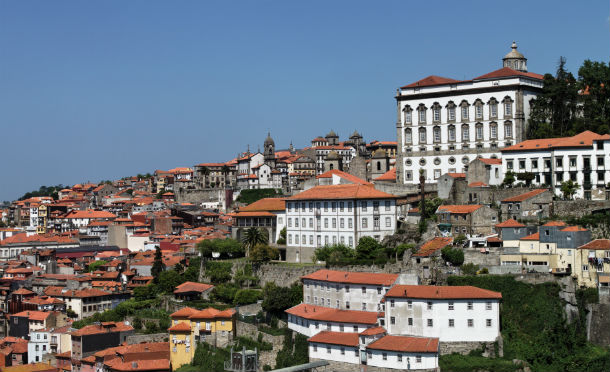 vista panorâmica do centro histórico do porto