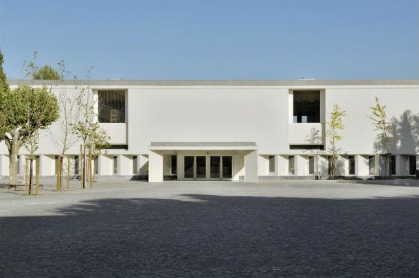 a nova entrada principal da escola básica francisco arruda