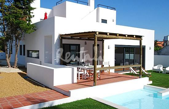 casas de fim de semana casa moderna com piscina e jardim