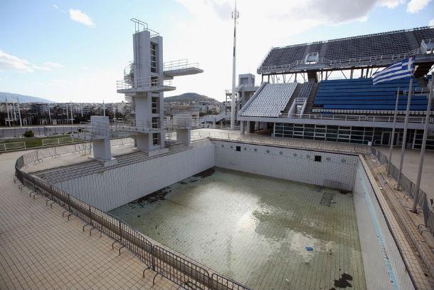 a piscina olímpica nos jogos olímpicos de atenas 2004