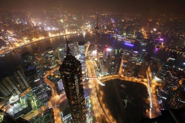 vista panorâmica de shangai, na china