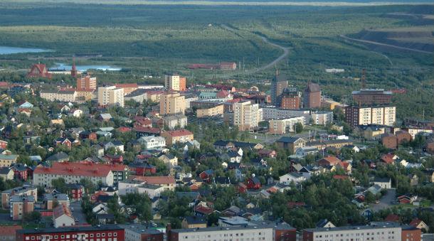 kiruna está localizada no norte da suécia e vai ser transferida para um novo lugar