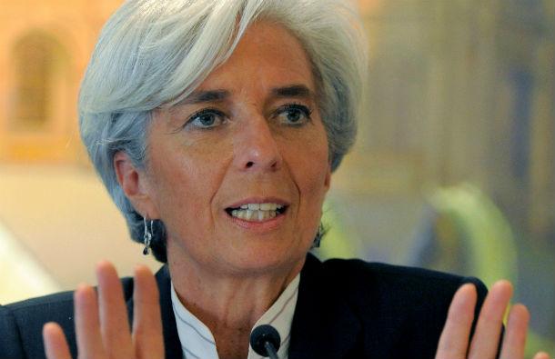 christine lagarde, directora-geral do fundo monetário internacional