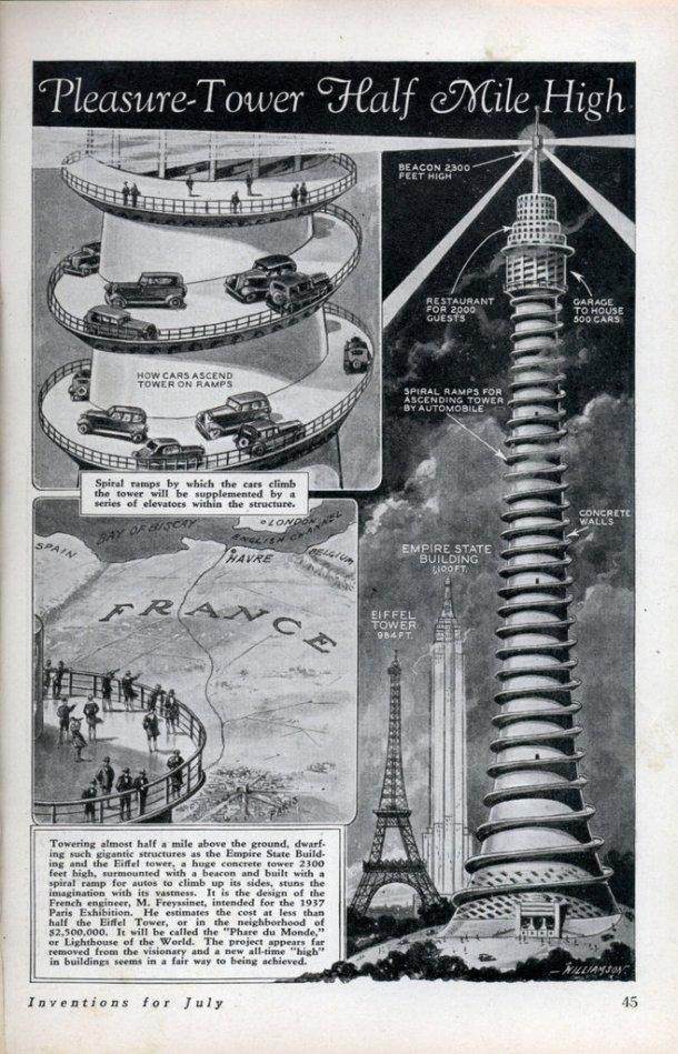 O projeto de Eugene Freyssinet previa a construção de um gigante edifício com 701 metros.