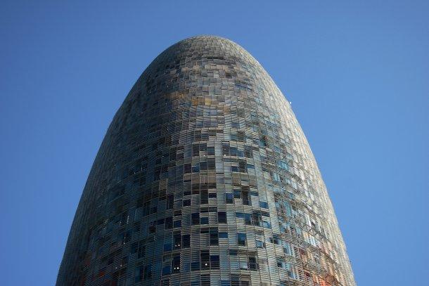 A Torre Agbar é o terceiro edifício mais alto de Barcelona.