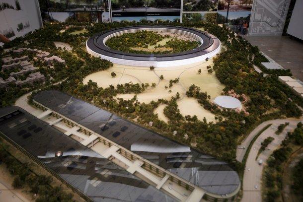 Primeira maqueta da nova sede da Apple. Foto: Mercurynews.com