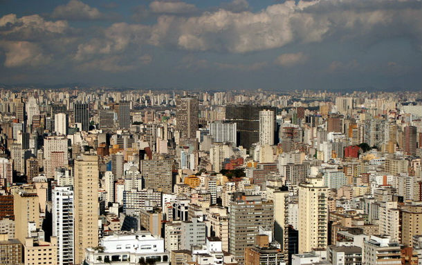 Vista panorâmica de São Paulo, no Brasil.