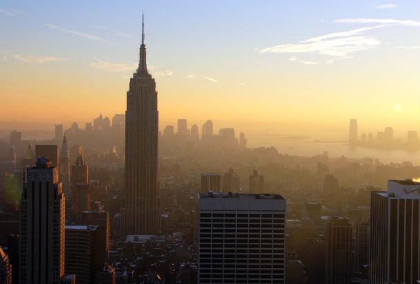 Vista panorâmica de Nova Iorque, nos EUA.