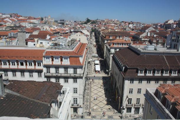A Rua Augusta, em Lisboa, foi considerada uma das mais bonitas do mundo.