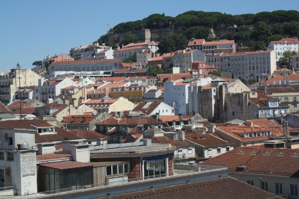 Vista panorâmica de Lisboa.