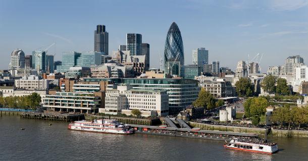 Vista panorâmica de Londres.