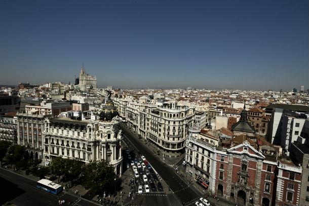 Vista panorâmica de Madrid, capital espanhola.