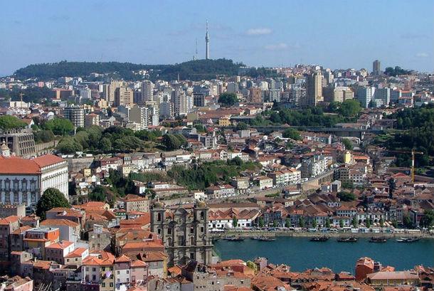 Vista panorâmica de Vila Nova de Gaia.