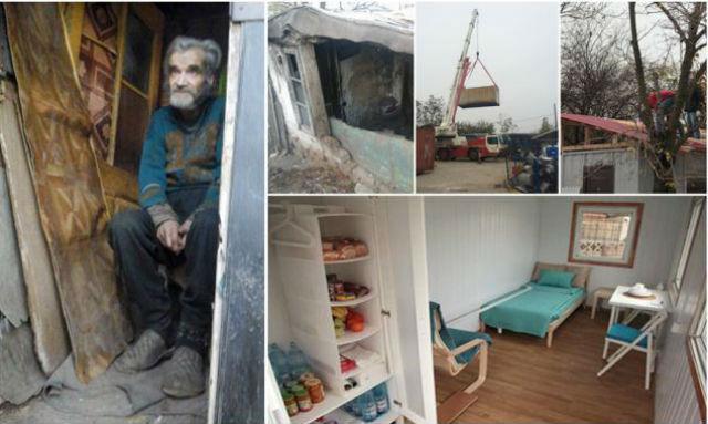 """Um """"crowdfunding"""" para construir uma casa digna a um idoso que vivia em condições desumanas (fotos)"""
