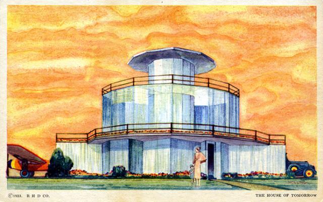Assim se imaginava uma casa futurista no século passado