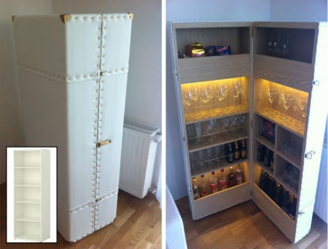 Ikea hacks os melhores tunings feitos com m veis do - Estanterias para bares ...