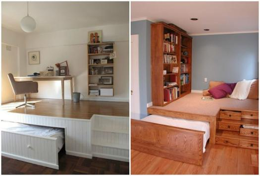 Ideias de decora o camas escondidas a melhor solu o - Camas en el piso decoracion ...