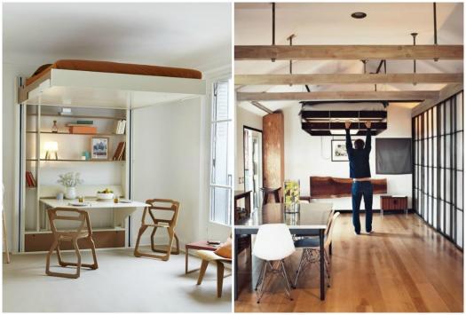 Ideias de decora o camas escondidas a melhor solu o para ganhar espa o em casas pequenas - Muebles plegables para viviendas pequenas ...