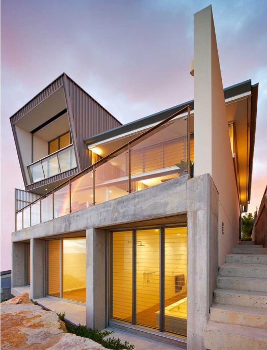 Casas de sonho viver numa casa em forma de cubo junto ao for Corner block home designs