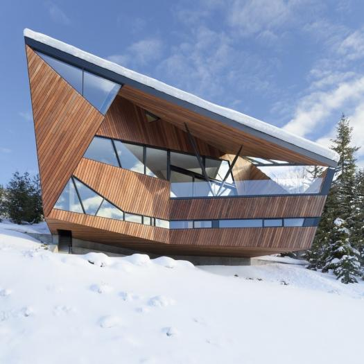 Casas de sonho: Viver numa mansão futurista no topo de uma pista de esqui (fotos)