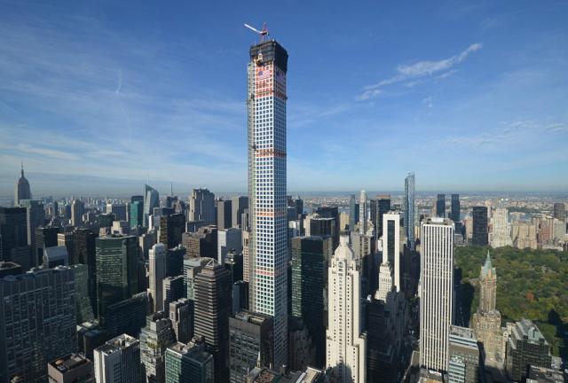 Vista panorâmica do arranha-céus 432 Park Avenue (Foto: CIM Group/Macklowe Properties).