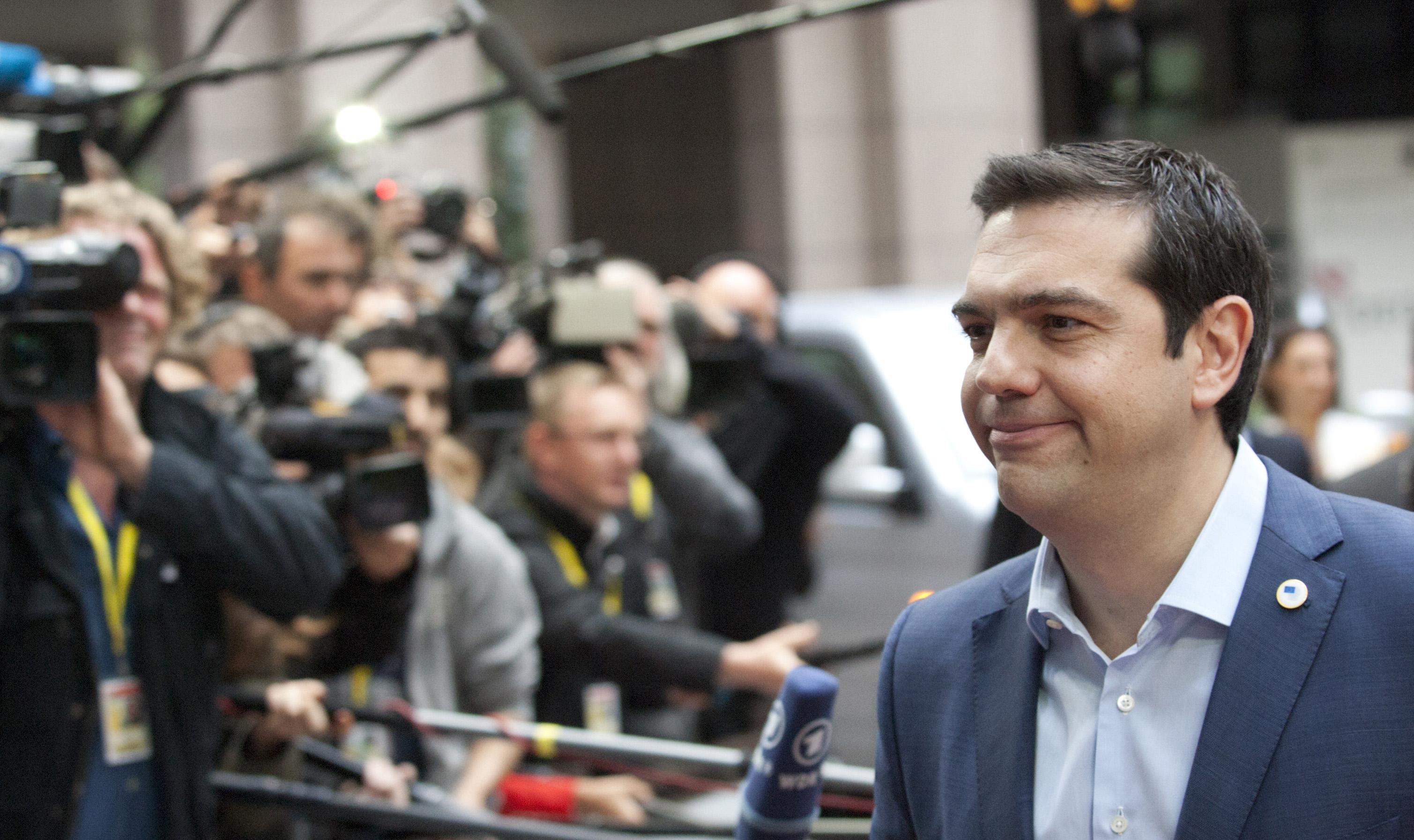 """Acordo permitirá """"à Grécia manter-se de pé"""", disse o primeiro-ministro grego Alexis Tsipras."""