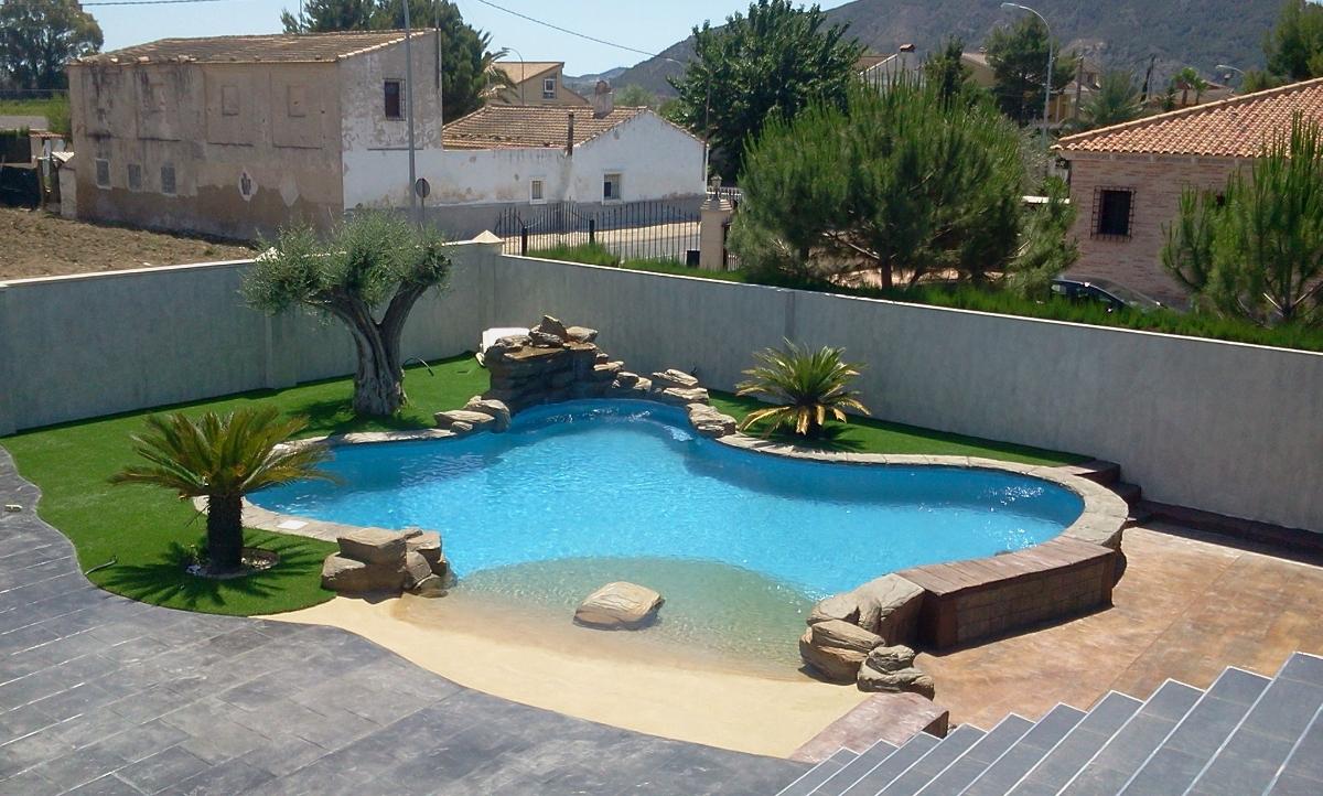 Ideias de decora o piscinas de areia ou como desfrutar for Precio construir piscina obra