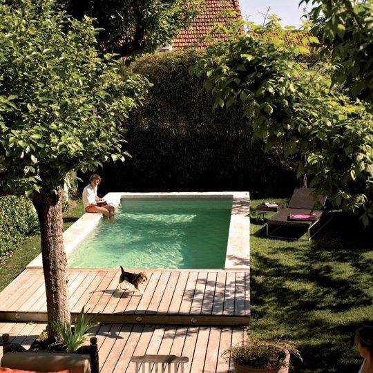 Ideias de decora o como ter uma piscina num jardim - Fotos de piscina ...